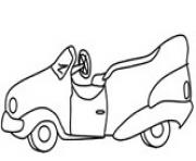 Print very old car coloring pages