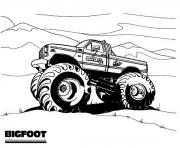 Print big foot monster truck coloring pages