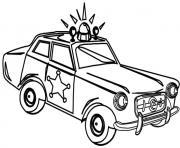 Print very old police car coloring pages