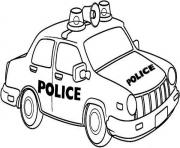 Print newyork police car coloring pages