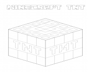 Printable minecraft tnt coloring pages