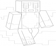 Printable minecraft stampy coloring pages
