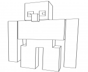 Printable minecraft iron golem coloring pages
