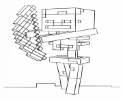Printable minecraft skeleton with bow coloring pages