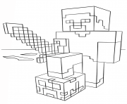 minecraft dragon coloring pages