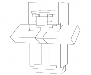 Print minecraft villager coloring pages