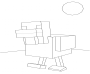 Printable minecraft chicken coloring pages