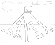 Printable minecraft muntant enderman coloring pages
