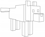 Printable minecraft wolf coloring pages