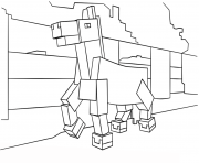 minecraft horse coloring pages
