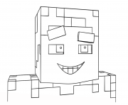 Printable minecraft smiling steve coloring pages