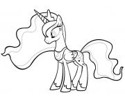 Printable princess luna cute coloring pages