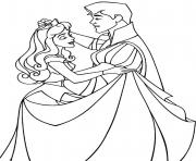Printable Sleeping Beauty and Prince coloring pages