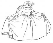 Printable The cinderella princess coloring pages