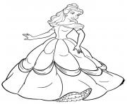 Printable princess belle coloring pages