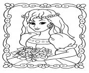 The beautiful princess coloring pages