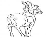 The princess riding on her horse coloring pages