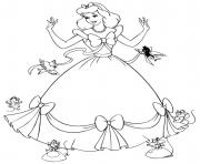 Printable disney princess cute coloring pages