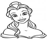 Printable princess belle disney coloring pages