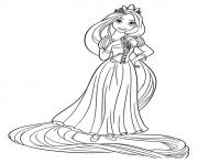 Printable rapunzel princess coloring pages