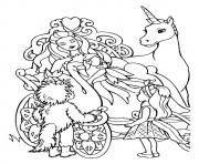 The barbie and the unicorn princess coloring pages