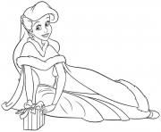 Printable princess ariel human christmas coloring pages