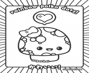 Printable polka kawaii coloring pages