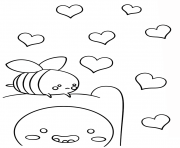 Printable kawaii finn and breezy coloring pages