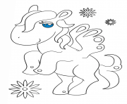 Printable kawaii pagasus coloring pages