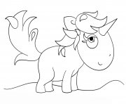 Print kawaii unicorn coloring pages