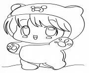 kawaii chibi girl coloring pages