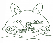 kawaii bunny coloring pages