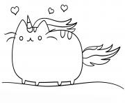 Print kawaii cat coloring pages