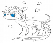 Print kawaii pegasus pony coloring pages