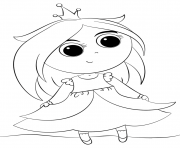 Printable cute little princess kawaii coloring pages