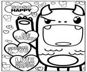Printable so so happy kawaii kawaii coloring pages