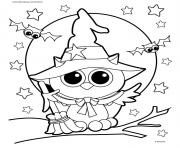 Print halloween owl coloring pages