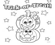 Print halloween pumpkins kids coloring pages