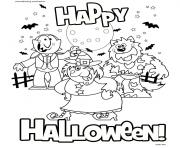 Print happy halloween 2017 coloring pages
