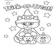 Print cat halloween costum kitty coloring pages
