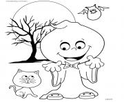 Print halloween gost silly coloring pages