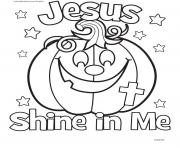 Print halloween jesus shine in me coloring pages