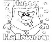 Print halloween monster happy halloween coloring pages