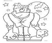 Print halloween monster coloring pages