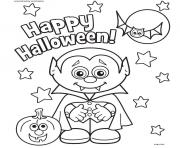 Print happy halloween coloring pages