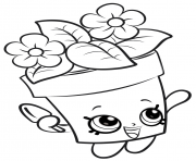 Printable shopkins flowers new coloring pages