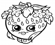 Printable shopkins strawberry smile coloring pages