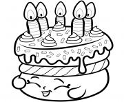 Cake Wishes From Shopkins Coloring Pages