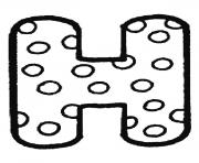 bubble letter h coloring pages
