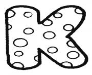 Printable bubble letter k coloring pages